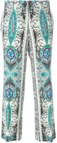 Etro scarf print trousers - women - Wool - 38