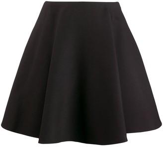 Valentino Flounced Crepe Skirt