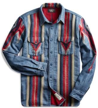 Ralph Lauren Indigo Jacquard Overshirt