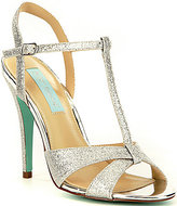 Betsey Johnson Blue by Teena Glitter T-Strap Dress Sandals