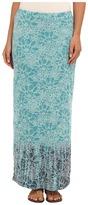 Mod-o-doc Floral Burnout Rib Long Skirt