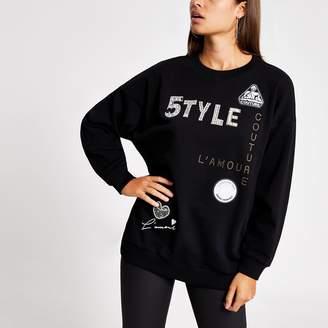 River Island Womens Black '5TYLE' embellished sweatshirt