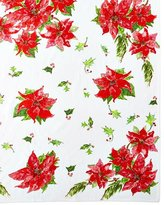 April Cornell Poinsettia Dining Tablecloth