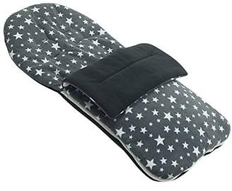 N. Fleece Footmuff Compatible with Out About Nipper Double Little - Grey Star