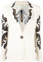 Fausto Puglisi printed single button blazer