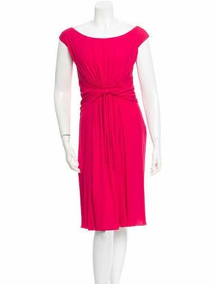 Giambattista Valli Silk Midi Dress Pink