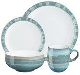 Denby 16-Piece Stoneware Azure Coast Dinner Set, Turquoise