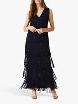 Phase Eight Kandice Fringe Dress, Navy