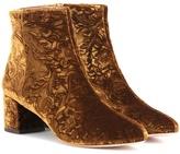 Aquazzura Embossed Velvet Ankle Boots