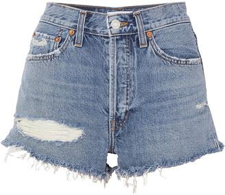 Solid & Striped + Re/done The Malibu Distressed Denim Shorts