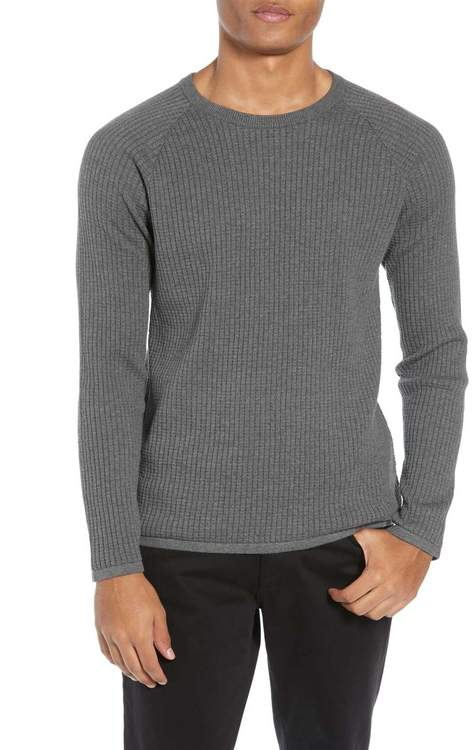 Theory Amadeo Regular Fit Textured Cotton Sweater (Nordstrom Exclusive)