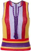 Roberto Cavalli lace-up crochet top