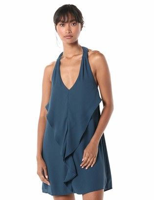 BCBGeneration Women's Cocktail Halter Ruffle FT Woven Dress