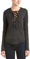 Anama Lace-up Top.