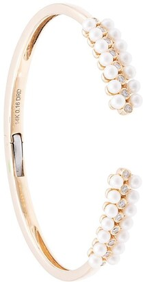 Dana Rebecca Designs 14kt Yellow Gold Diamond And Pearl Cuff