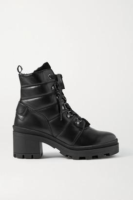 Bogner Belgrade Leather And Shearling Ankle Boots - Black