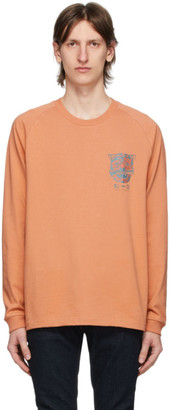 Nudie Jeans Orange Misfit Creature Bodie Long Sleeve T-Shirt