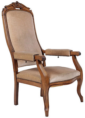 One Kings Lane Vintage 19th-Century French Voltaire Recliner - Blink Home Vintique