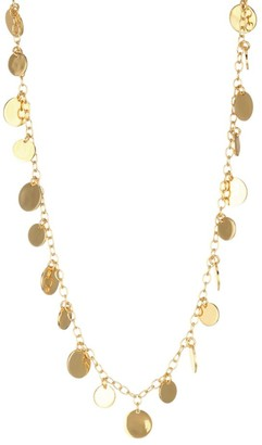 Nest 22K Yellow Goldplated Disc Choker Necklace