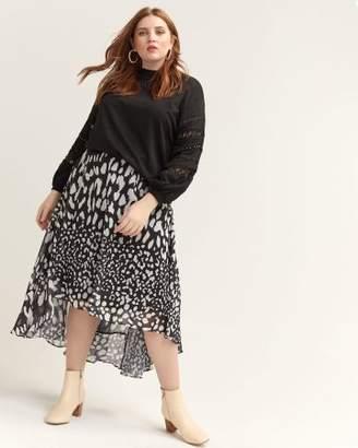 High-Low Animal Print Skirt - Lost Ink