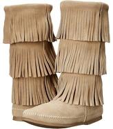 Minnetonka 3-Layer Fringe Boot Women's Boots