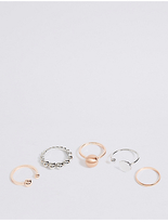 M&S Collection 5 Pack Ring Set