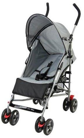 Dream On Me Lightweight Aluminum Stroller - Black/Gray