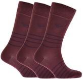 Giorgio Armani Emporio 3 Pack Socks Burgundy