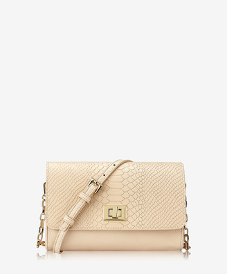 GiGi New York Catherine Crossbody, Almond Embossed Python