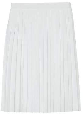 Burberry Women's Pleated Silk Skirt
