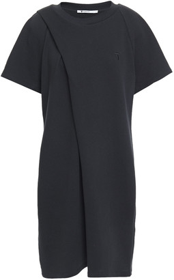 alexanderwang.t Pleated French Cotton-blend Terry Mini Dress