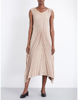 Issey Miyake Soft Leaf silk-blend dress