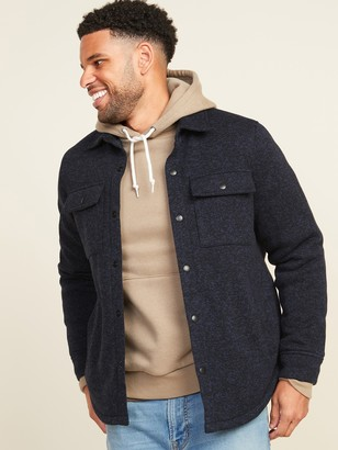 Old Navy Sweater-Fleece Shirt Jacket for Men