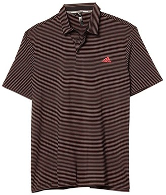 adidas Ultimate365 Space Dye Stripe Polo (Black/Power Pink/Tech Emerald) Men's Clothing