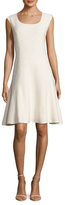 St. John Mili Knit Scoopneck Midi Dress