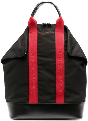 Alexander McQueen Two-Tone Logo-Tape Backpack