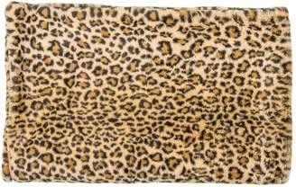 Luxe Faux Fur Leopard-Print Faux Fur Throw Blanket