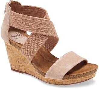 Sofft Chalette Cork Wedge Sandal