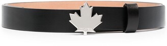 DSQUARED2 Maple-Leaf leather belt