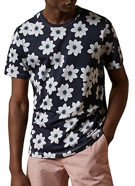 Ted Baker Nade Cotton Floral Print Tee