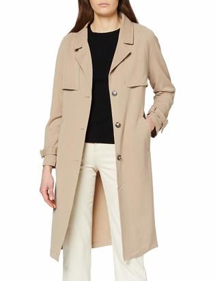 Vero Moda Women's Vmdonnaexport Ss20 Long Jacket Boos Trenchcoat