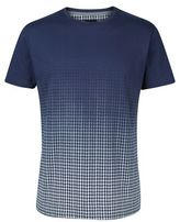 Burton Mens Navy Dogtooth Fade T-Shirt