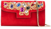 Casadei jewelled shoulder bag - women - Chamois Leather/Nappa Leather - One Size