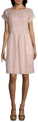 Parker PEYTON & Peyton & Short Sleeve Plaid Sheath Dress