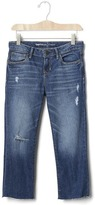 Gap 1969 Distressed Straight Ankle Jeans