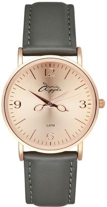 Bermuda Watch Company Annie Apple Alore Rose Gold/Grey Leather Hairdresser Scissor Hands Watch