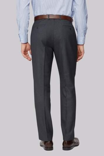 Moss Esq. Regular Fit Airforce Blue Birdseye Pants