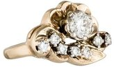 Ring 14K Diamond Floral