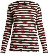 Proenza Schouler Pansy-print long-sleeved cotton T-shirt