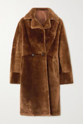 Yves Salomon Shearling Coat - Camel